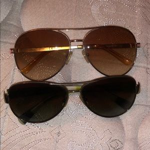 Two pair of sunglasses